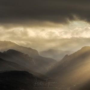 Últimas luces en Belagua desde Juan Pito.