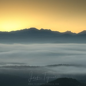 Pirineo desde el alto de las Coronas (Navarra)