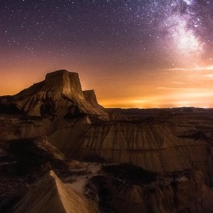 Vía Láctea en Bardenas
